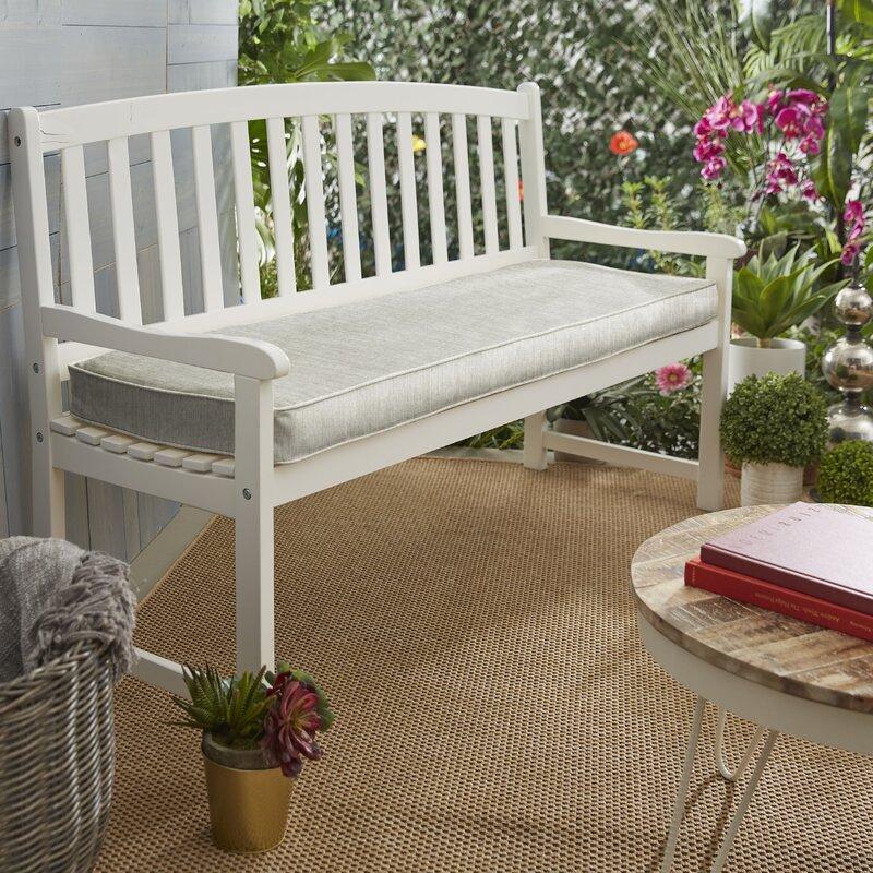 Breakwater Bay Canvas Granite Indoor Outdoor Sunbrella Bench Cushion Reviews Wayfair