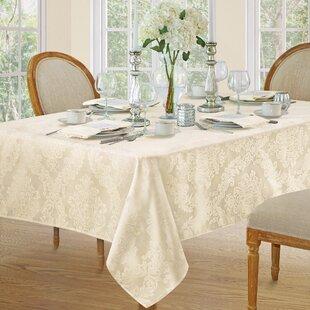 """Luxueux moderne tissé carreaux jacquard noir table nappe 52/"""" x 70/"""""""