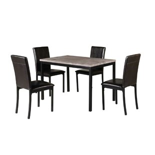 Della 5 Piece Counter Height Dining Set