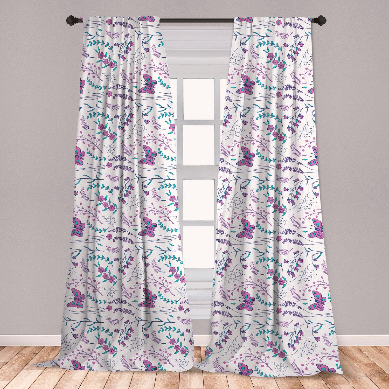 East Urban Home Spring Floral Room Darkening Rod Pocket Curtain Panels