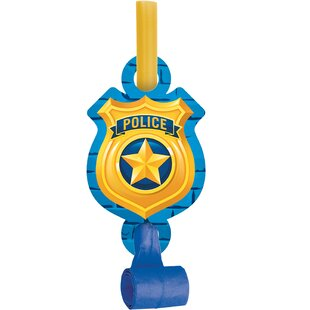 Police Plastic/Paper Disposable Party Favor Set (Set of 24)