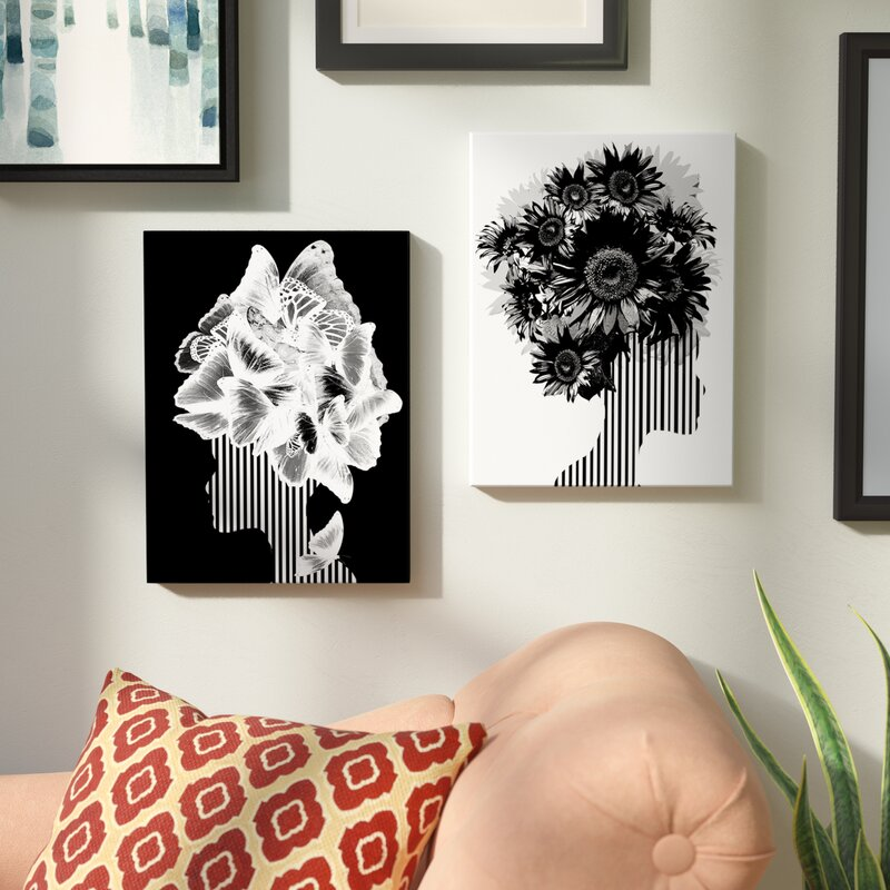 'Mod Swag II' by ChiChi Decor - 2 Piece Wrapped Canvas Graphic Art Print Set