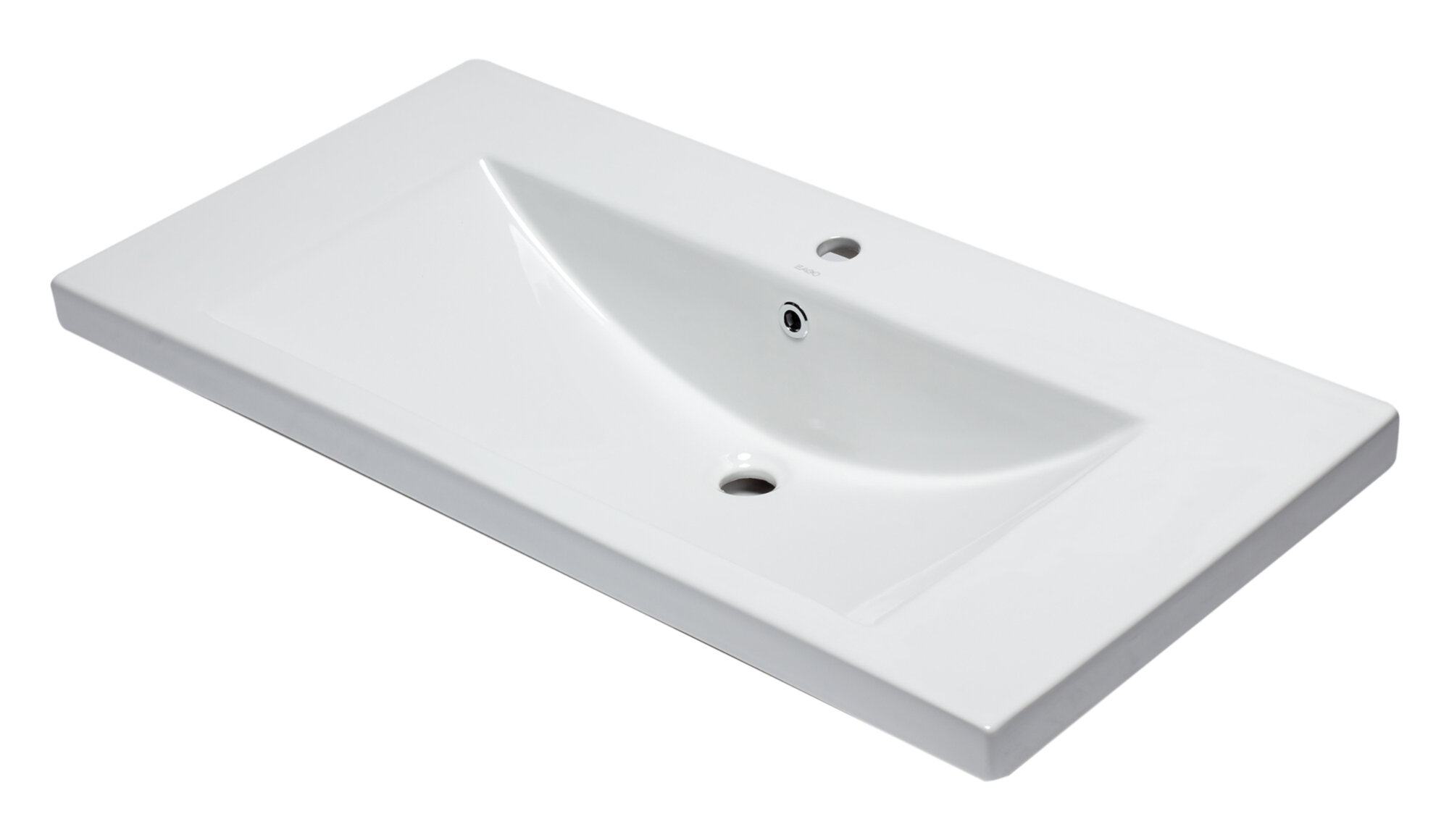 Eago Ceramic Rectangular Drop In Bathroom Sink With Overflow Wayfair