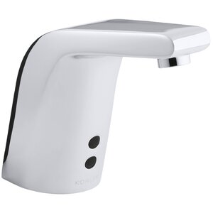 Sculpted Single-Hole Touchless Dc-Powered Commercial Bathroom Sink Faucet with Insight Technology and 5-3/4