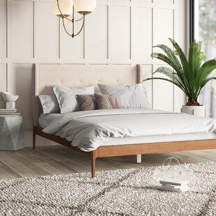 Review Ellerman Upholstered Platform Bed