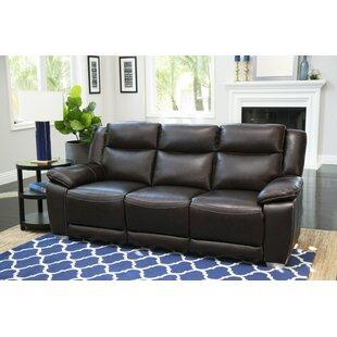 Red Barrel Studio Evansburg Leather Reclining Sofa