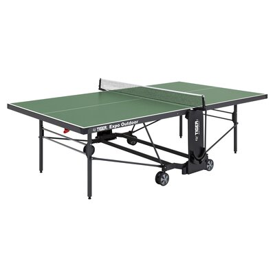 Expo Ping Pong Foldable Indoor/Outdoor Table Tennis Table TigerPingPong Finish/Color: Green