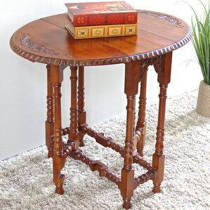 Nice Windsor Hand Carved Wood Foldout Console Table