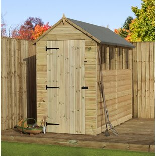 4 Ft. W X 10 Ft. D Shiplap Wooden Shed By WFX Utility