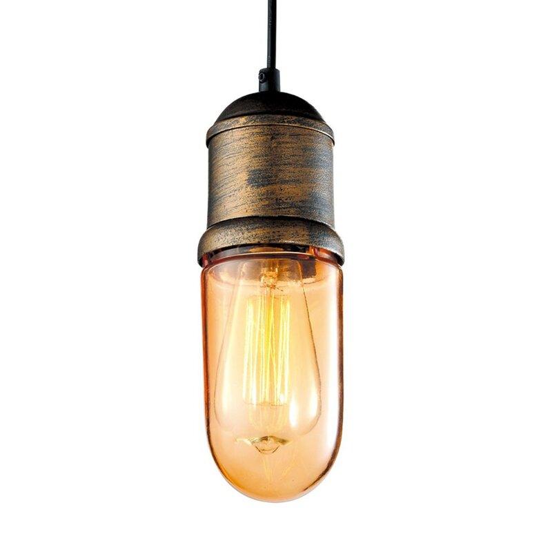 Williston Forge Adah 1-Light Bulb Pendant