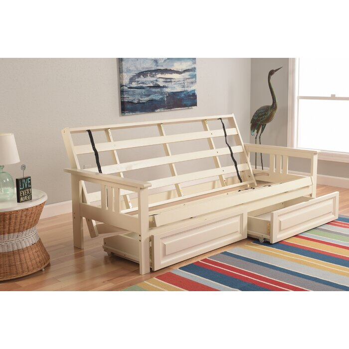 Leavittsburg Futon Frame With Drawers