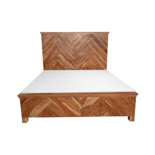 West Wooden Queen Platform Bed by Union Rustic