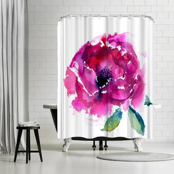 East Urban Home Rachel Mcnaughton Coral Single Shower Curtain Wayfair