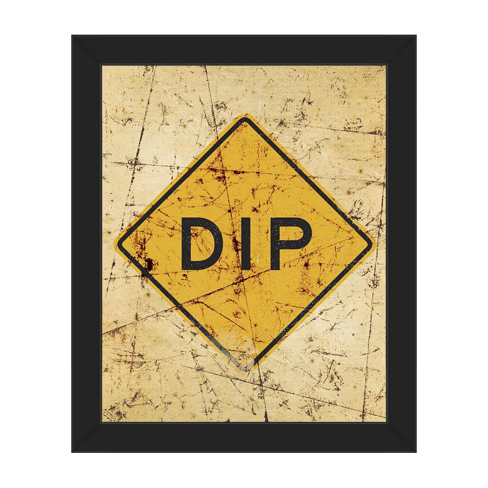 Click Wall Art \'Dip in Road Scratch\' Framed Wall Art on Canvas | Wayfair