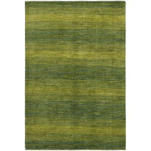 One Of A Kind Didcot Hand Knotted Wool Hunter Green Area Rug 5 6 X 8 2 Wool Hunter Green Area Rug