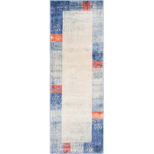 Courtyard Blue Area Rug By World Menagerie