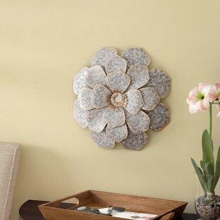 Large Metal Flower Wall Bloom Wayfair