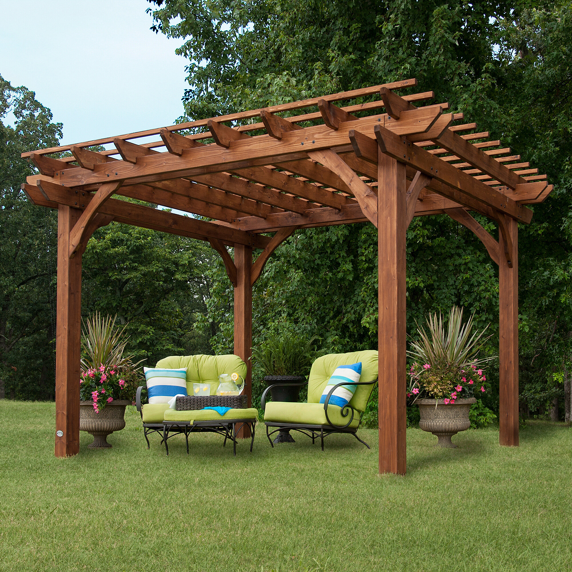 Backyard Discovery Cedar 4 Ft. W x 4 Ft. D Solid Wood Pergola