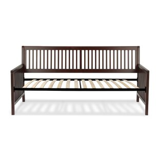 Winston Porter Alhambra Wood Daybed with Open-Slatted Panels