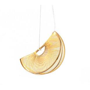 Orren Ellis Piscitelli Iron Fan LED Novelty Pendant