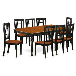 Pimentel 9 Piece Solid Wood Dining Set by August Grove 2019 Sale