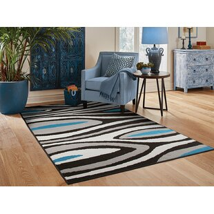 Yablonski Black/Gray Indoor/Outdoor Area Rug ByEbern Designs