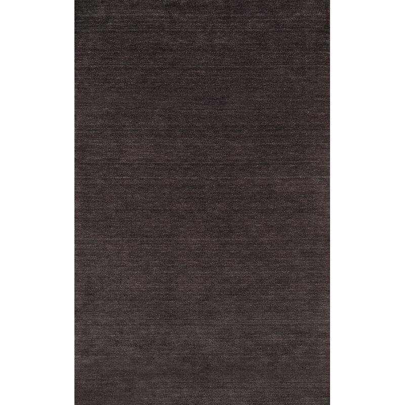 Orren Ellis Christensen Hand Knotted Wool Charcoal Rug Reviews Wayfair Ca