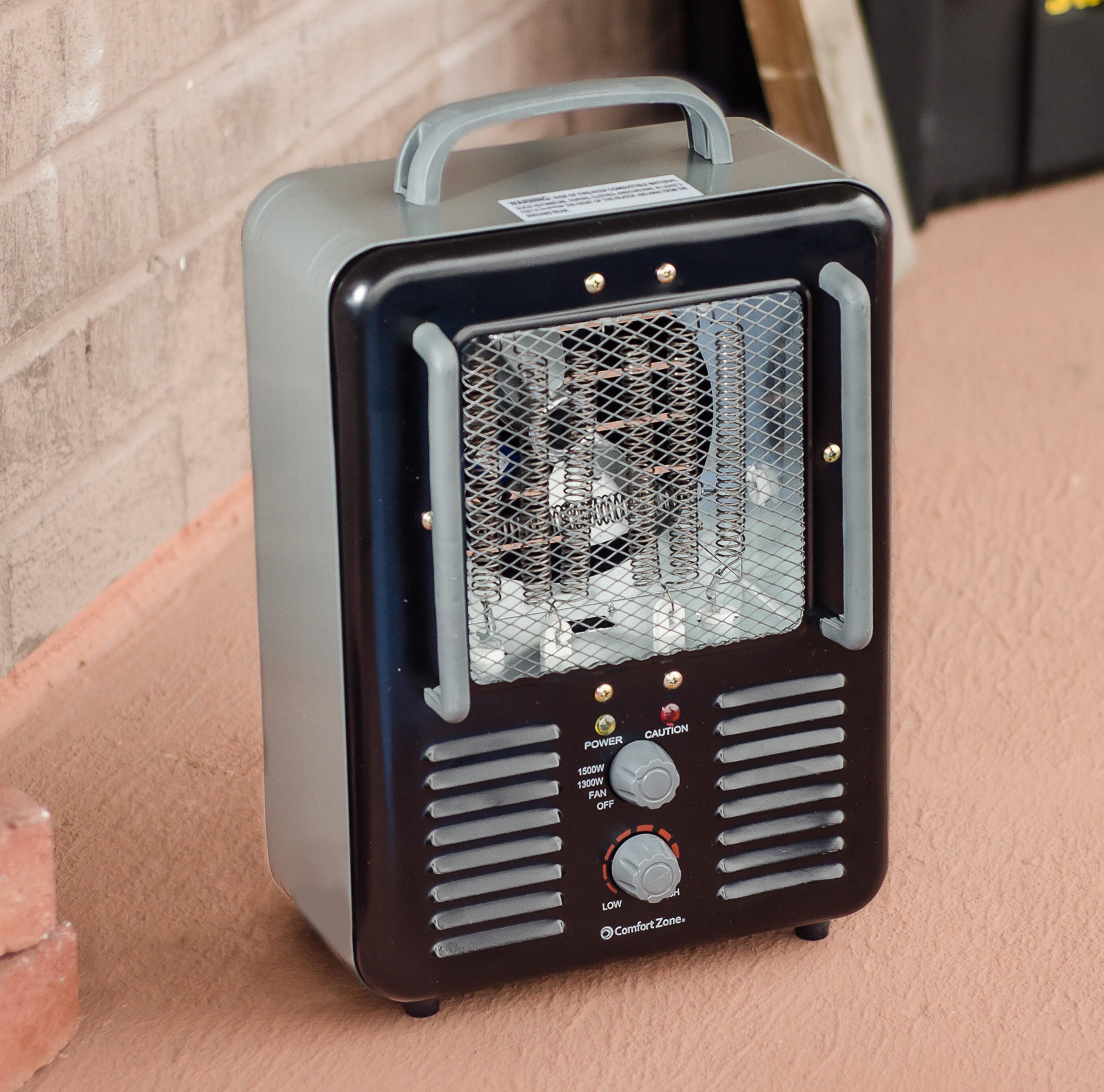 Comfort Zone Milkhouse 1 300 Watt Electric Fan Utility Heater Reviews Wayfair