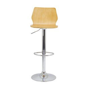 Pulmeria Height Adjustable Swivel Bar Stool By Metro Lane