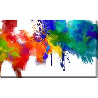 Latitude Run Sea Of Colors Print On Canvas Wayfair