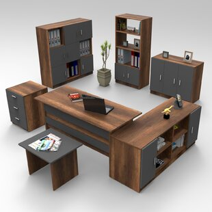 Moshup 7-Piece Standard Desk Office Suite By Ebern Designs