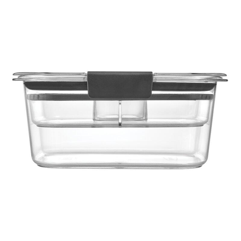 Rubbermaid Brilliance Food Storage Salad Container, Medium, 4.7 Cup, Clear | Wayfair