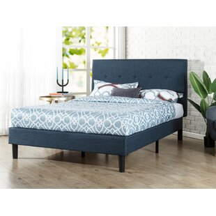 Roye Button Detailed Upholstered Platform Bed by Wrought Studio