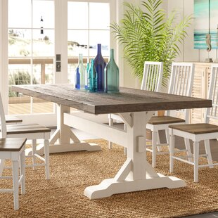 Bulah Solid Wood Dining Table by Rosecliff Heights