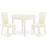 Ardoin 3 Piece Solid Wood Breakfast Nook Dining Set by Winston Porter