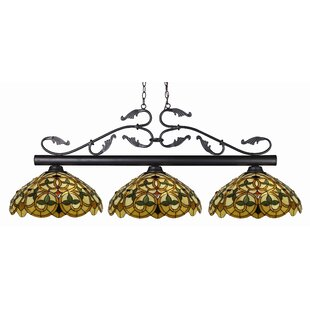 Fleur De Lis Living Beechwood 3-Light Pool Table Lights Pendant