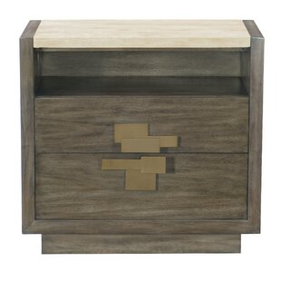 Bernhardt Profile 2 Drawer Nightstand