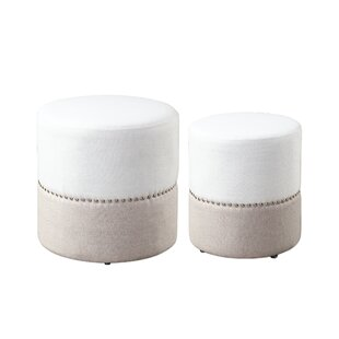 Ball 2 Piece Pouf Set