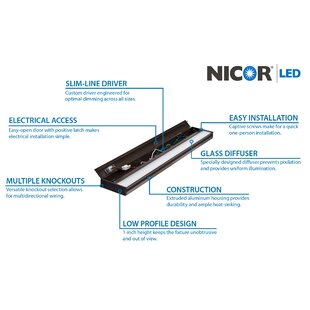 NICOR Lighting Slim Dimmable LED 40