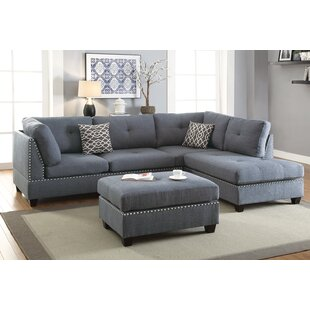 Alcott Hill Swan Reversible Sectional wit..