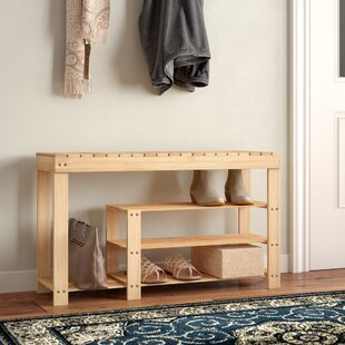 3-Tier Bamboo 10 Pair Shoe Rack by Rebrilliant
