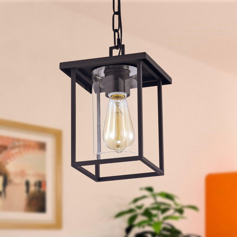 17 Stories Albritton Black 1 Bulb 11 H Outdoor Hanging Lantern Reviews Wayfair
