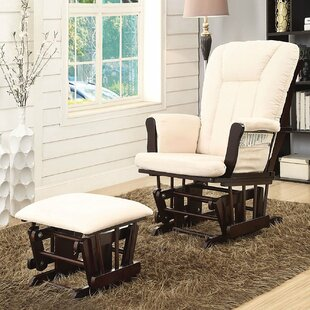 Inexpensive Groover Transitional Glider and Ottoman ByRed Barrel Studio