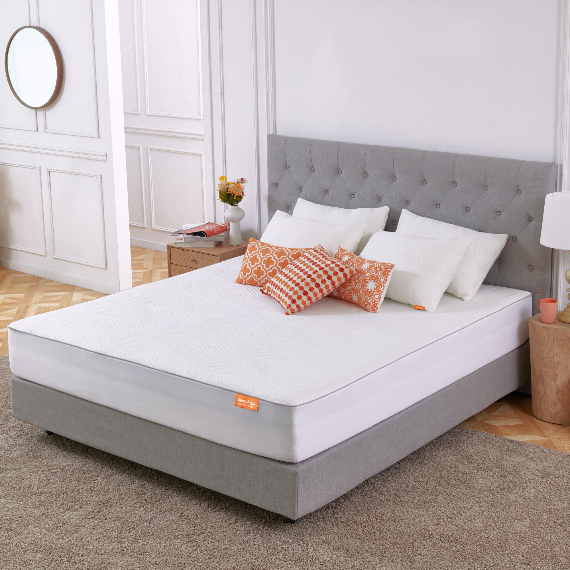 Sweetnight 4 Gel Memory Foam Mattress Topper Reviews Wayfair
