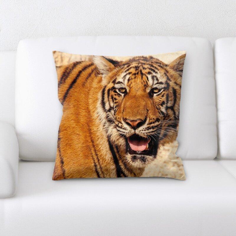 East Urban Home Tiger Throw Pillow Wayfair
