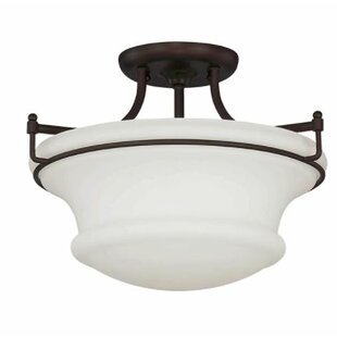 Freeborn 2-Light Semi Flush Mo..