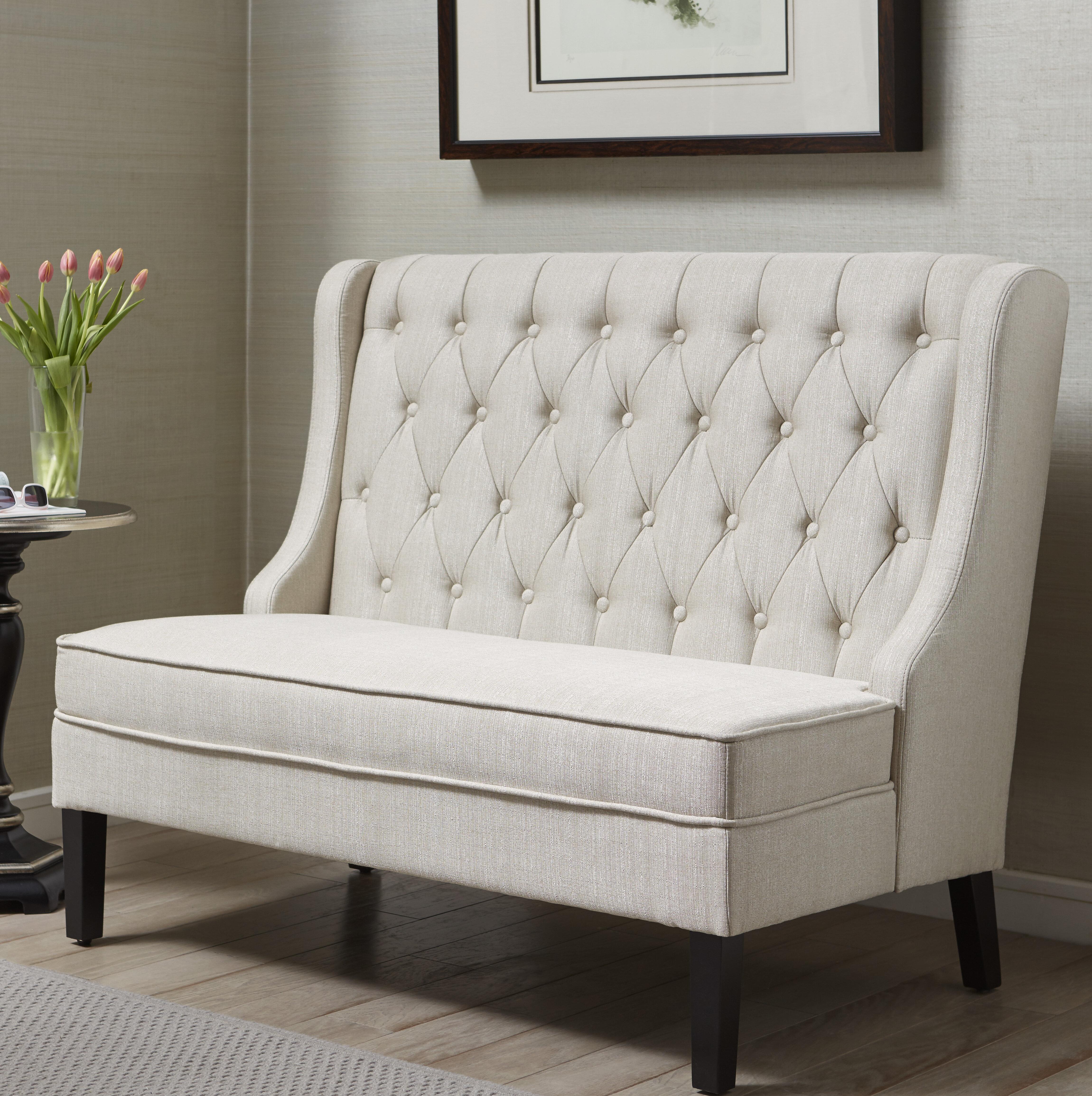 Three posts moriah upholstered bench reviews wayfair