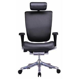 Ergonomic Genuine Leather Task Chair
