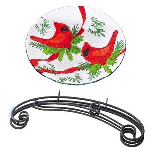 Evergreen Flag & Garden Winter Cardinals Birdbath