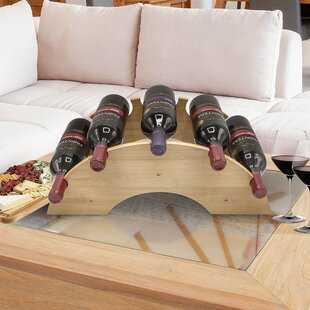 Zayas Bamboo 5 Bottle Tabletop Wine Rack ..